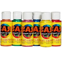 RAS Tempera Paint for Kids Set of 6 2 oz. Bottles - Pearl Co