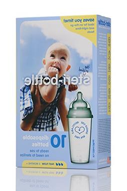 Steri-Bottle Ready to Use Disposable Bottles Set of 10 Fast