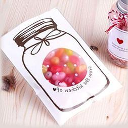 Saran Wrap Plastic Bags - 100pcs Candy Cookie Cellophane Gif