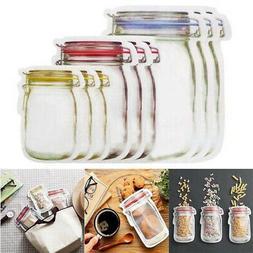 Seal Fresh Food Storage Bag Reusable Mason Jar Bottles Bags