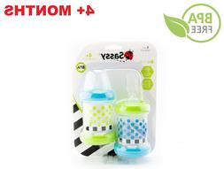 Set Of 2 Baby Food Feeder Bottles With  Nipple Spoon BPA Fre