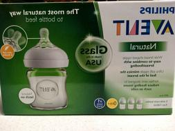 Philips Avent Set Of 3 Glass Baby Bottles Natural Wide Breas