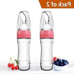 Baby Mate 2 PCS Silicone Baby Food Dispensing Spoon  FDS - I