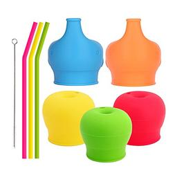 Tougs Silicone Sippy Straw Cup Lids for Toddlers Babies  - 3