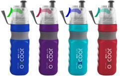 Sports Water Bottle & Refreshing Mist 24 OZ Bike Hike Jog Ca