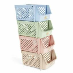 Stackable Storage Bins For Food Snacks Bottles Toys Toiletri