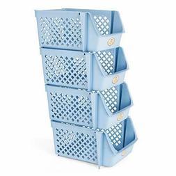 Stackable Storage Bins for Food, Snacks, Bottles, Toys, Toil