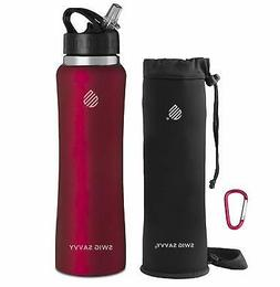 SWIG SAVVY Stainless Steel Insulated Water Bottle Wide Mouth