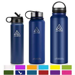 Hiwill Stainless Steel Insulated Water Bottle 2 Lids, Cold 2
