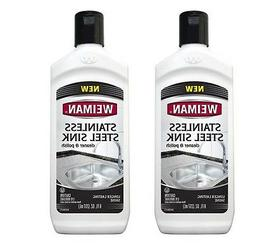 Weiman Stainless Steel Sink Cleaner and Polish - Non-abrasiv
