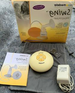 Medela-Swing Single Electric Breast Pump w/ Power Supply Acc