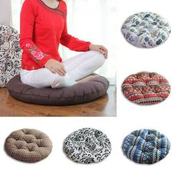Tatami Round Floor Pillow Seat Cotton Linen Cushion Meditati