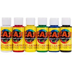 RAS Tempera Paint for Kids Set of 6 2 oz. Bottles - Assorted