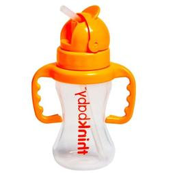 NEW Thinkbaby, Thinkster Straw Bottle, Natural Orange - 9 Oz