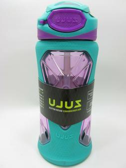 ZULU Tritan BPA-Free Plastic Water Bottle with Flip Straw, 1