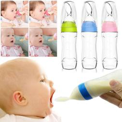 US Safety Infant Baby Silicone Feeding With Spoon Feeder Foo