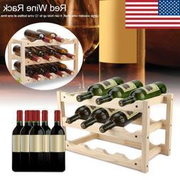 very sturdy 12 bottles wooden wine rack