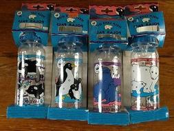 VTG 4 Animals Baby Bottles Polar Bears-Seals-Whale-Penguins