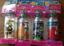 VTG 4  Zoo Animals Baby Bottles Monkeys-Frogs-Plastic RARE M