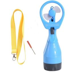 Water Spray Fan with Bottle Water Misting  a Lanyard and a h