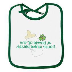 White Green Baby Bib A Bottle of House White Bib 100% Cotton