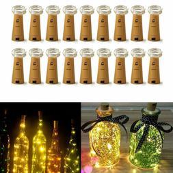 Wine Bottle Cork Shaped String Light 20LED Night Fairy Light
